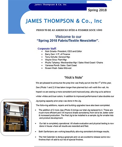 james thompson newsletters